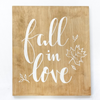 Fall in love bordje