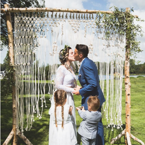 Backdrop berken + macrame
